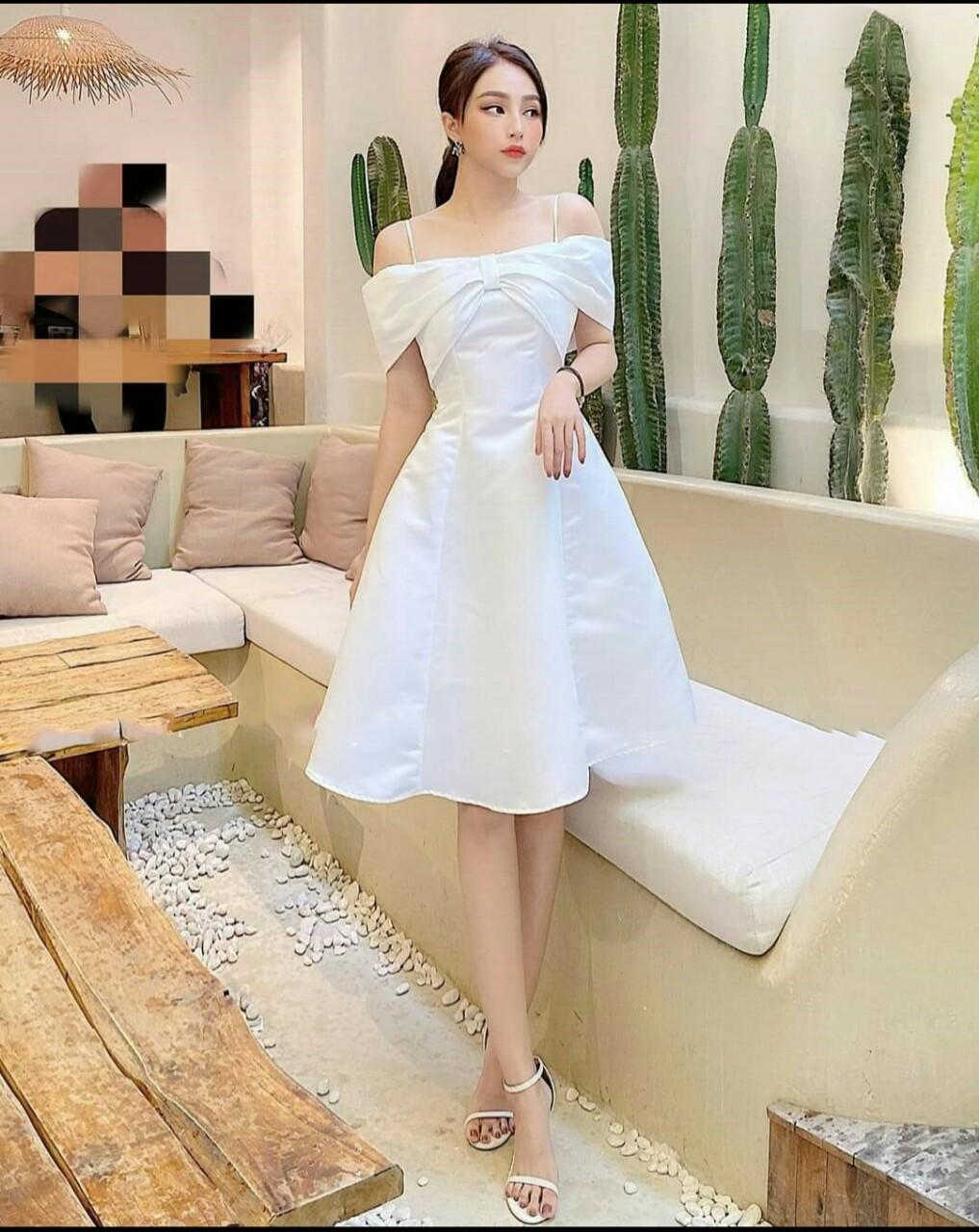 Đầm dự tiệc trắng