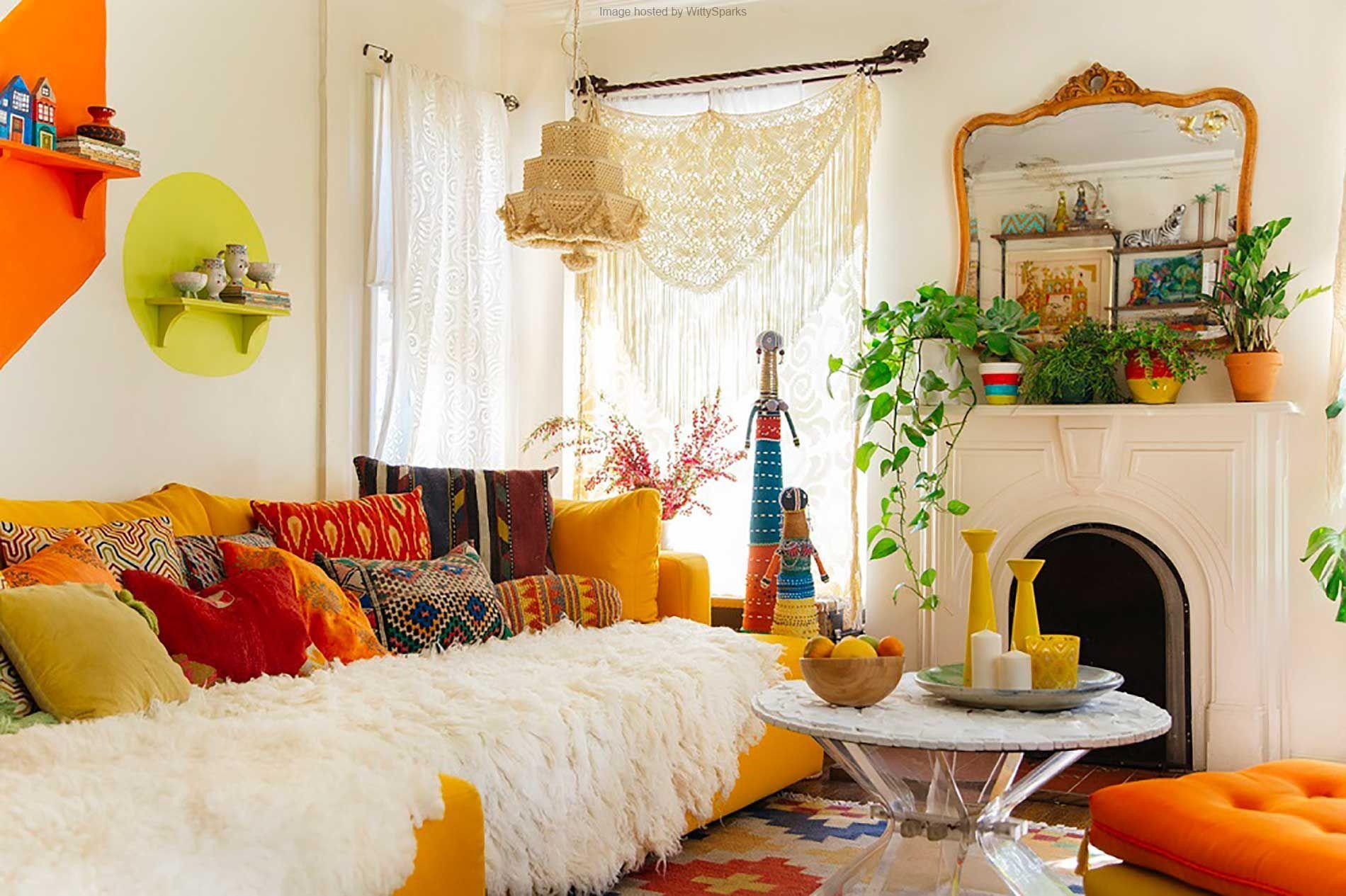 Phong cách thiết kế nội thất Bohemian - Sắc màu của cuộc sống