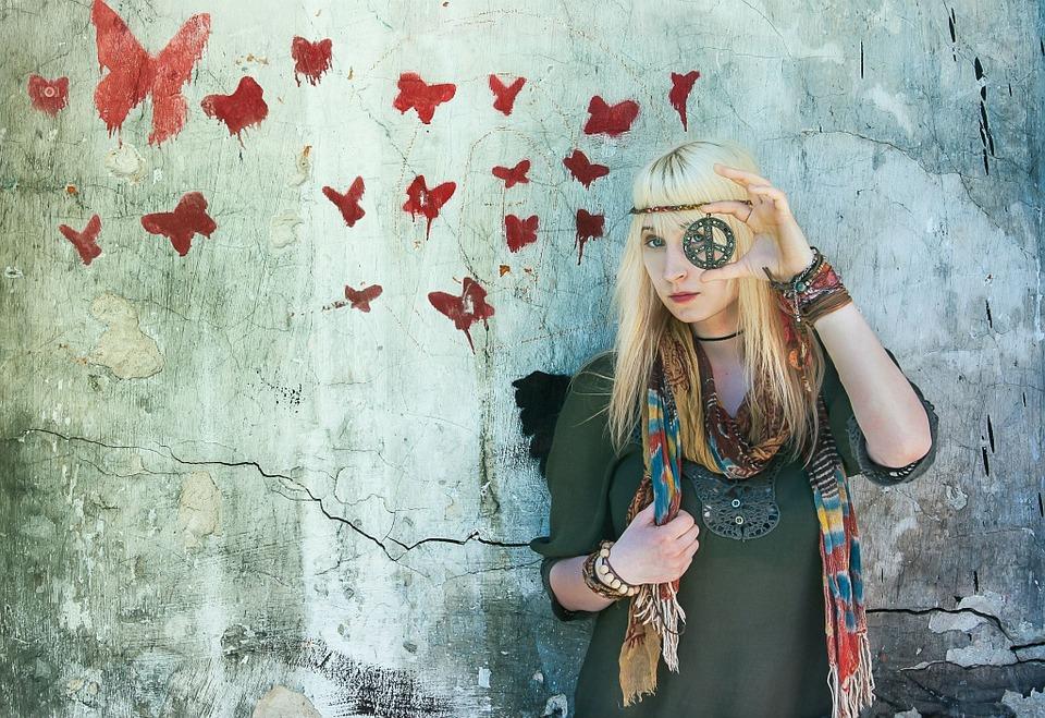 Hippie, Bướm, Màu Sắc, Sung Sướng, Hippy, Cổ Điển